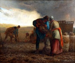 "Jean-Francois Millet's ""The Potato Harvest"" at the Mint - Museum of Art through Sunday"
