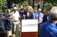 Jennifer Roberts announces her bid for Charlotte mayor