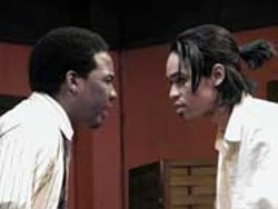 Jeremy Davis (right) stars with Byron Barr in Winthrop - University's production of Topdog/Underdog