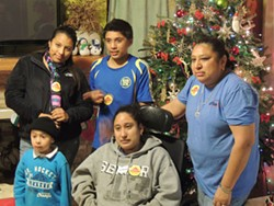 RYAN PITKIN - Jessica Sanchez surrounded by her siblings and mother. Clockwise from top left: Iovanna, Manuel, Silvia, Jessica and Israel.
