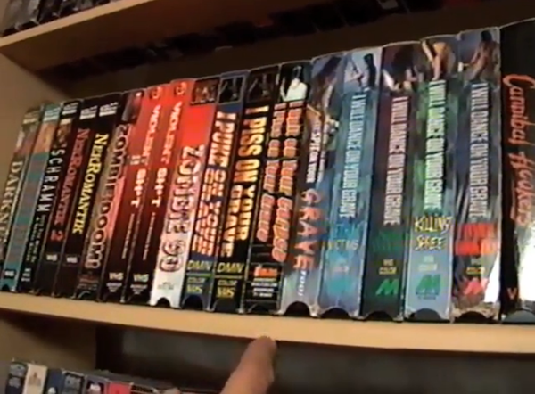 Joe Clark's hardcore shelf, as seen in Adjust Your Tracking