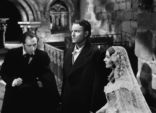 John Abbott, Orson Welles and Joan Fontaine in Jane Eyre (Photo: Twilight Time)