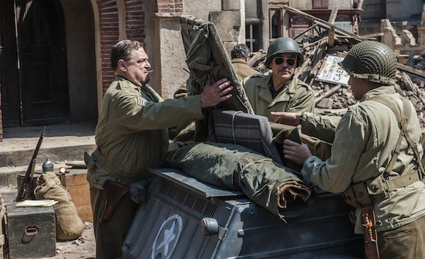 John Goodman, George Clooney and Dimitri Leonidas in The Monuments Men (Photo: Columbia & Fox)