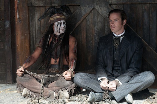 Johnny Depp and Armie Hammer in The Lone Ranger (Photo: Disney)
