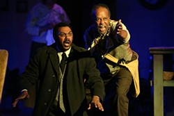 CHRIS RECORD - Jonavan Adams as Harold Loomis (left) and Willie Stratford  Jr. as Bynum in Joe Turner's Come and Gone.