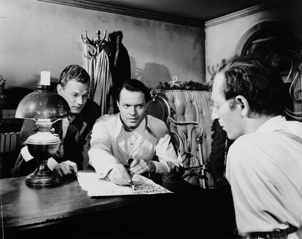 Joseph Cotten, Orson Welles and Everett Sloane in Citizen Kane