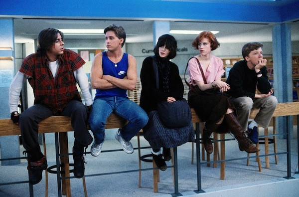 Judd Nelson, Emilio Estevez, Ally Sheedy, Molly Ringwald and Anthony Michael Hall in The Breakfast Club (Photo: Universal)