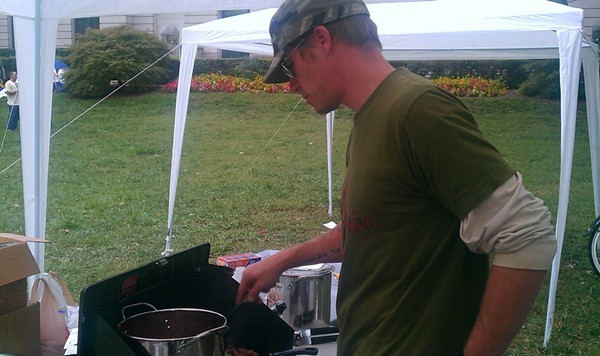 JusCaus making dinner for Occupy Charlotte Oct. 12