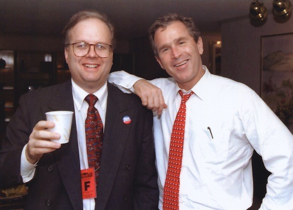 Karl Rove and George W. Bush vs. the little people, as seen in the documentary Hot Coffee