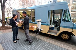 JASIATIC - KEEP ON TRUCKIN': A prime spot to see a food truck is at Johnson & Wales University during lunch.