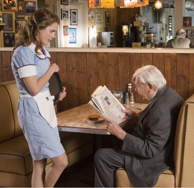 Keri Russell and Andy Griffith in Waitress - ALAN MARKFIELD / FOX SEARCHLIGHT
