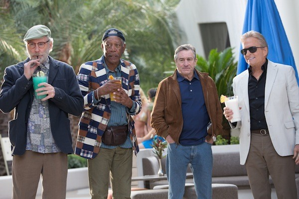 Kevin Kline, Morgan Freeman, Robert De Niro and Michael Douglas in Last Vegas (Photo: Chuck Zlotnick / CBS Films)