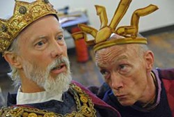 PERRY TANNENBAUM - KING ME: Graham Smith (left) and Henson Keys are Lear and his Fool in the N.C. Shakespeare Festival production of King Lear in High Point, previewing Sept. 13 and running through Oct. 5.