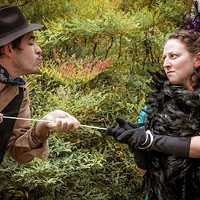 KISS ME KATE: J.R. Adduci as Petruchio and Meghan Lowther as Kate in The Taming of the Shrew