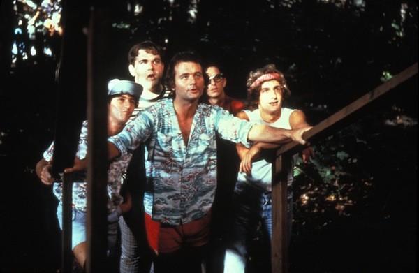 (l-r) Todd Hoffman, Keith Knight, Bill Murray, Jack Blum and Matt Craven in Meatballs (Photo: Lionsgate)