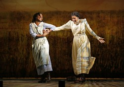 LaChanze and Renee Elise Goldsberry in The Color Purple. - PAUL KOLNIK