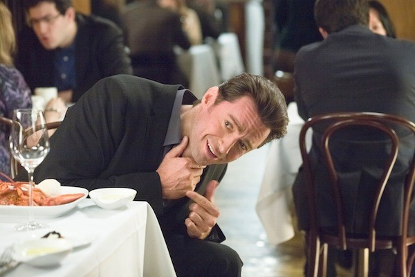 LACKING CONVICTION: The studio behind Movie 43 doesn't even have the balls to show Hugh Jackman's neck testicles in the press photos. (Photo: Relativity Media)