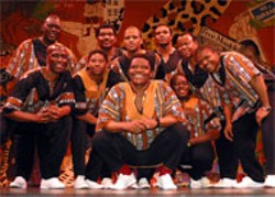 Ladysmith Black Mambazo performs at the - Neighborhood Theatre on Thursday
