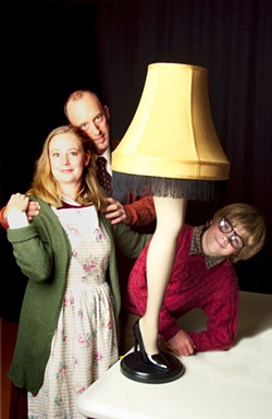 DONNA BISE - Laurie Riffe, Steven Ivey and Will Davis (l-r) in CT's A Christmas Story