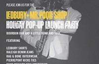 Ledbury + Mr. Poole Shop Holiday Pop-Up opens for 1 week