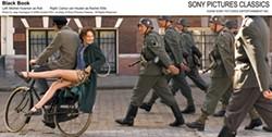 JAAP VRENEGOOR / CONTENT FILM & SONY PICTURES CLASSICS - LEG UP ON THE ENEMY: Rachel (Carice Van Houten) flirts with German soldiers in Black Book