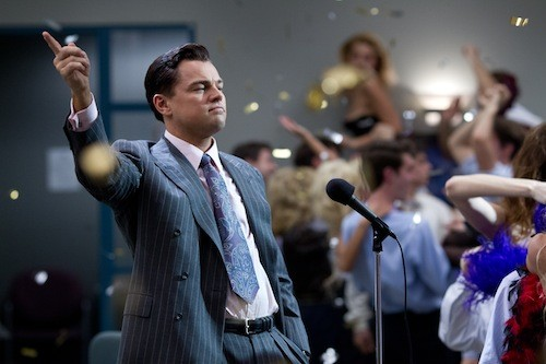 LEO THE LION: Leonardo DiCaprio deserves his Best Actor bid for The Wolf of Wall Street; the film's other nominees, not so much. (Photo: Paramount)