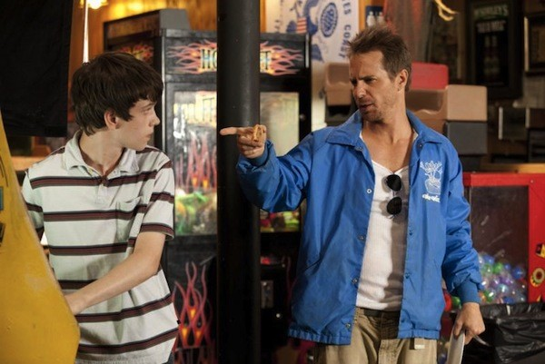 Liam James and Sam Rockwell in The Way, Way Back (Photo: Fox)