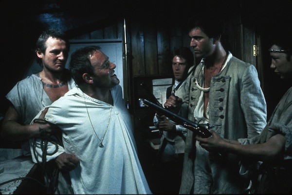 Liam Neeson, Anthony Hopkins and Mel Gibson in The Bounty (Photo: Twilight Time)