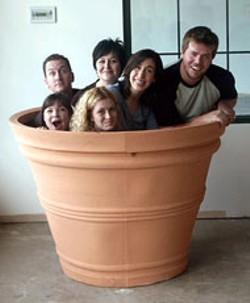 RICK SUYAO - Lifegame  cast members Chandler McIntyre, - Joe Rux, Johanna Jowett, Barbi VanSchaik, Nicia - Carla and Aaron Moore go to pot.