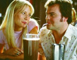 20TH CENTURY FOX - LIVIN' LARGE Gwyneth Paltrow and Jack Black share - a shake in Shallow Hal