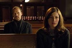 MATT DINERSTEIN / SAMUEL GOLDWYN FILMS - LIVING ON A PRAYER: Kate (Kelly Macdonald) is unaware that her new friend Frank (Michael Keaton) is a hit man in The Merry Gentleman.