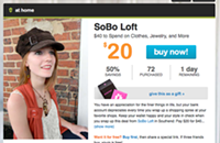 Living Social deal for Sobo Loft