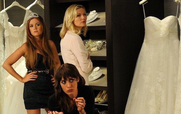 Lizzy Kaplan (front), Isla Fisher and Kirsten Dunst in Bachelorette (Photo: Anchor Bay)