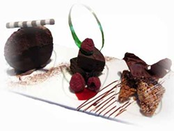 LOOKIN' GOOD: Salara Bistro and Dessert Lounge offers a trio of chocolates during their special Tuesday Tastings.