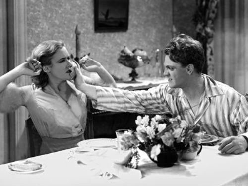Mae Clarke and James Cagney in The Public Enemy (Photo: Warner Bros.)
