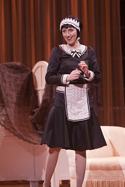 GREG CABLE, OPERA CAROLINA - MAID TO ORDER: Sarah Callinan cleans up in Cosi fan Tutte.