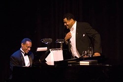 GENA J. PHOTOGRAPHY - MAKING SWEET MUSIC: Ronald Taylor as Lawrence Brown and Jason McKinney as Paul Robeson.