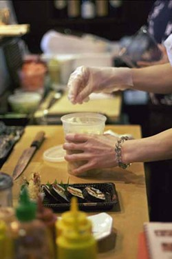 ASHLEY GOODWIN - MANNING THE SUSHI BAR: Andy the Itamae at work