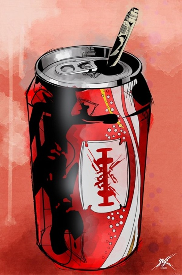 "Marcus Kiser: ""Coke is it."" Image courtesy of the artist."