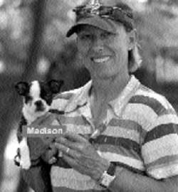 Martina Navritalova and her dog Madison
