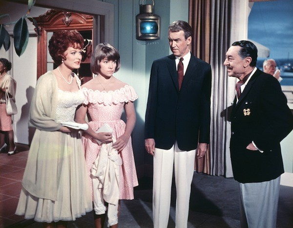 Maureen O'Hara, Lauri Peters, James Stewart and Reginald Gardiner in Mr. Hobbs Takes a Vacation (Photo: Twilight Time)