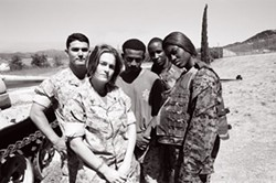MCs featured on Voices from the Frontline (from left): CPL Yoshi, Mischelle, Q, Pyro, Miss Flame. - MARGEAUX BESTARD