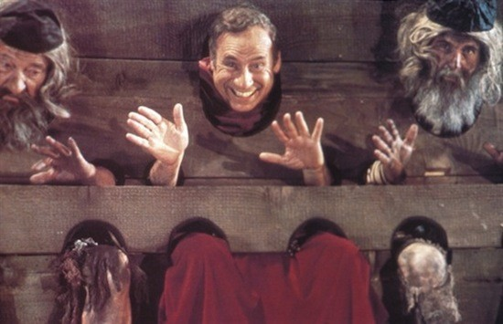 "Mel Brooks in ""The Inquisition,"" the musical number featured in History of the World: Part I and discussed in a new box set devoted to Brooks' career. (Photo: Shout! Factory & Fox)"