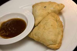 CATALINA KULCZAR-MARIN - MELT IN YOUR MOUTH: The samosa appetizer at Soma Grill Indian Bistro