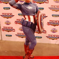 Memphis cosplayer Laurel Amatangelo- Whitten gets patriotic with this version of Captain America.