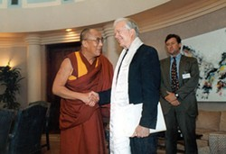 COPYRIGHT THE COLUMBUS LEDGER-ENQUIRER - MEN OF VALUES: Carter with the Dali Lama