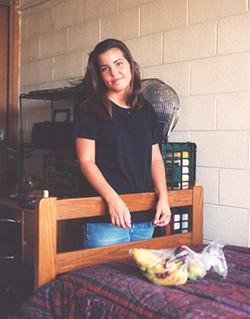 COURTESY BOB MODAFFERI - MIA: Kristen Modafferi in her dorm room at N.C. State