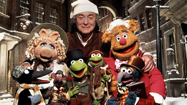 Michael Caine and co-stars in The Muppet Christmas Carol (Photo: Disney)