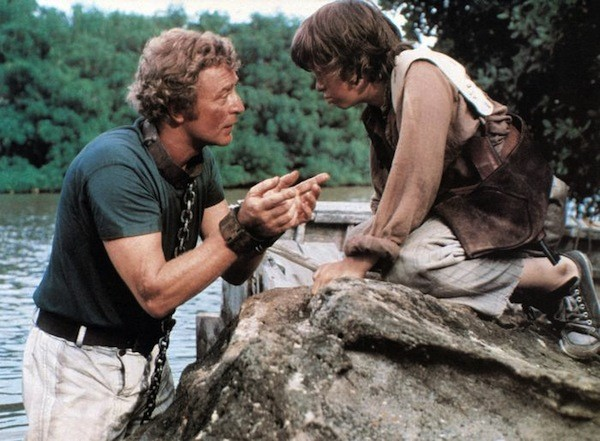 Michael Caine and Jeffrey Frank in The Island (Photo: Shout! Factory)