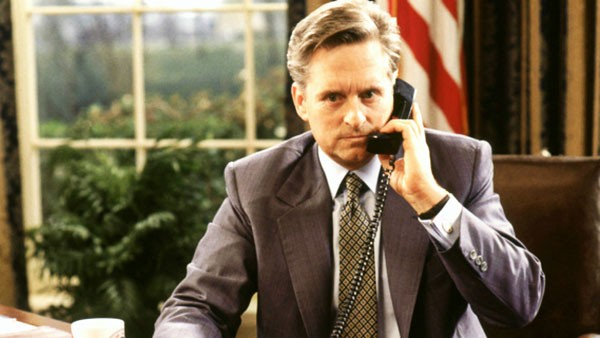 Michael Douglas as President Andrew Shepherd in The American President